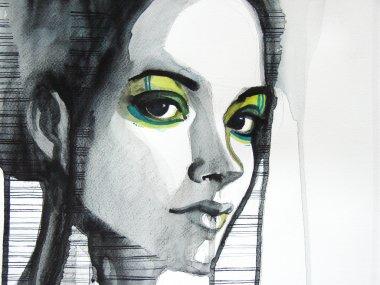 Beautiful illustrated girl