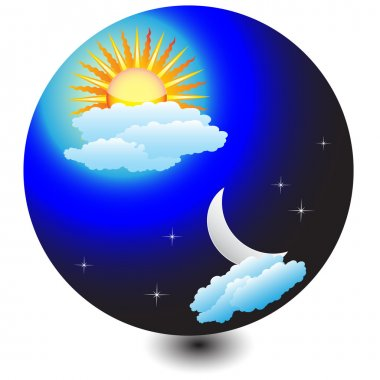 Icon, Weather, day and night