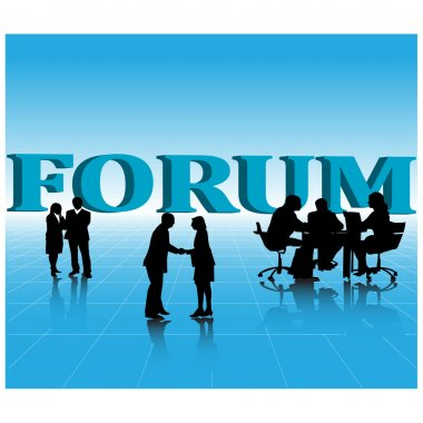 Business forum.Vector