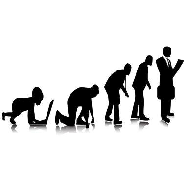 Business evolution.Vector