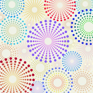 Retro fun dotted circles pattern