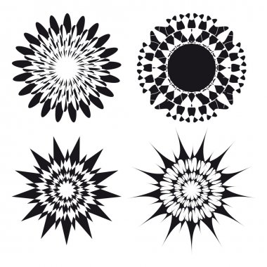 Spirograph ornament tattoo design elements