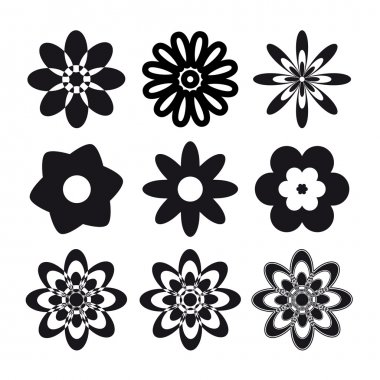 Set of flower tattoo