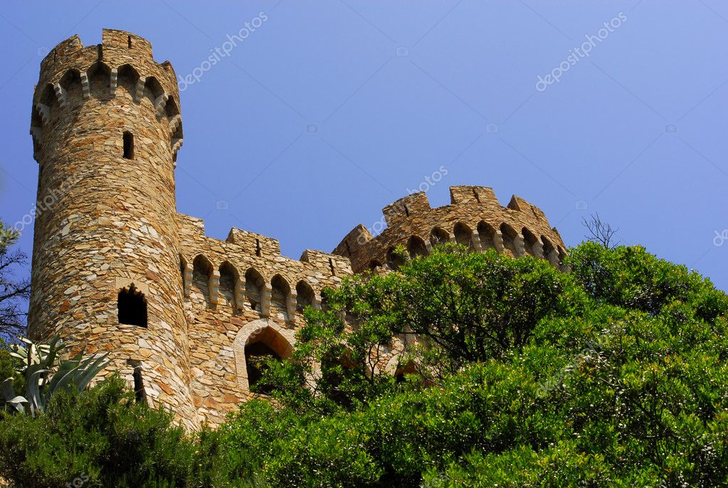 Sant Joan castle in Lloret De Mar, Costa Brava