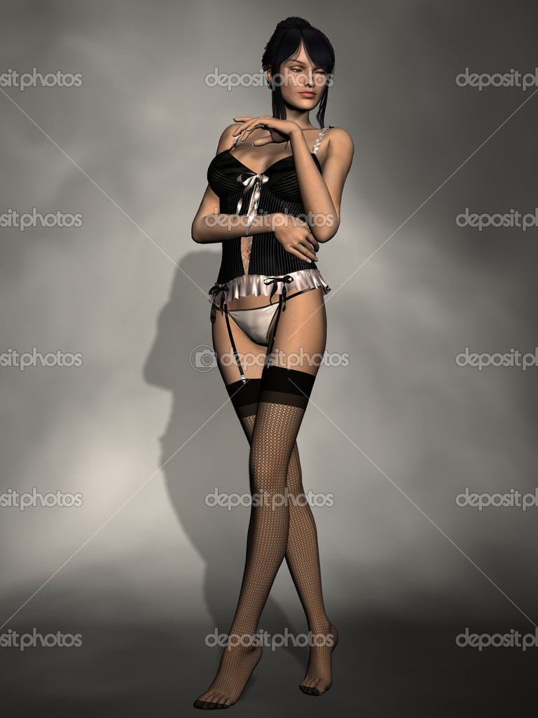 Schöne Frauen In Dessous Stockfoto Digitalstudio 2791218