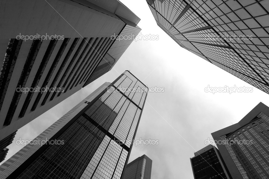 High business buildings