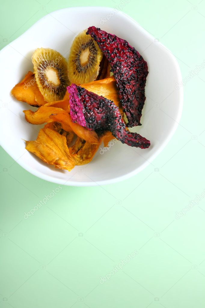Dried Fruits in a blow