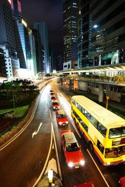 Taxi and bus in Hong Kong