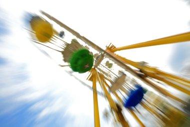 Fun theme park abstract motion blur