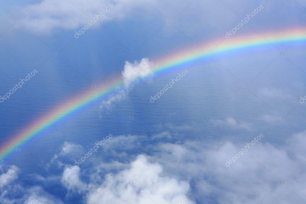 regenbogen im himmel — stockfoto © leungchopan 3617029