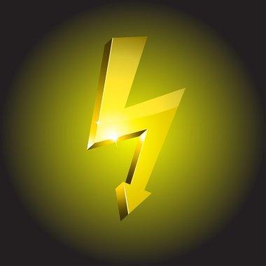 Electricity warning symbol.