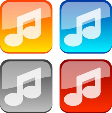 Music buttons.