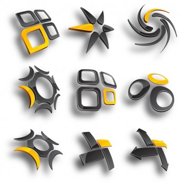 Abstract design elements. Vector illustration. clip art vector