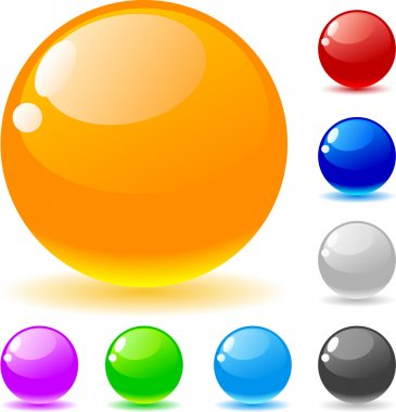 Glossy balls.