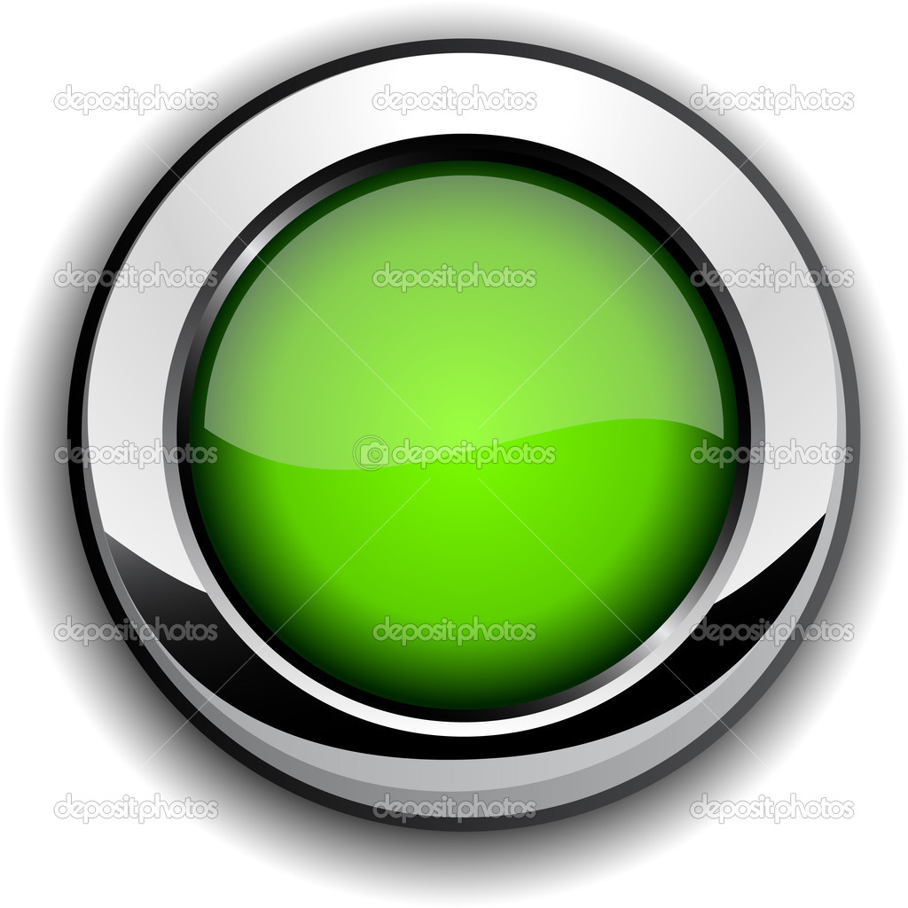 Glossy green button stock vector maxborovkov 2752639 - Green button ...
