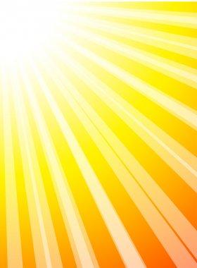 Sun and sunbeams. Vector illustration. stock vector