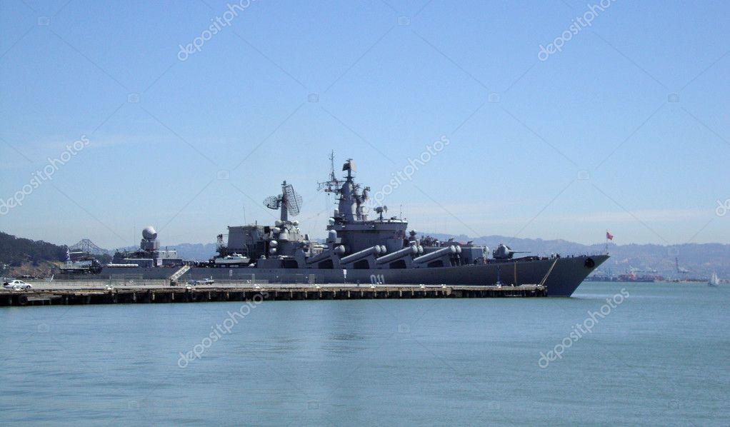 Russian Warship Varyag docked in San Francisco bay
