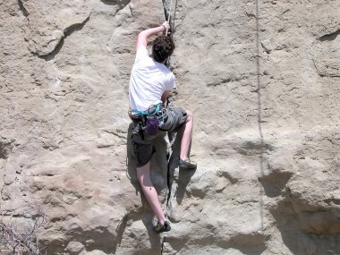 Boy Climbing - Montana