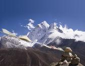 Ama dablam modlitební praporky - Nepál