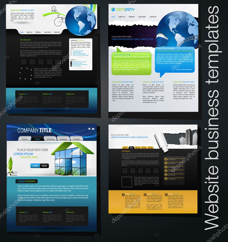 Exclusive website business templates forth set stock photo exclusive website business templates forth set stock photo maxwellsz