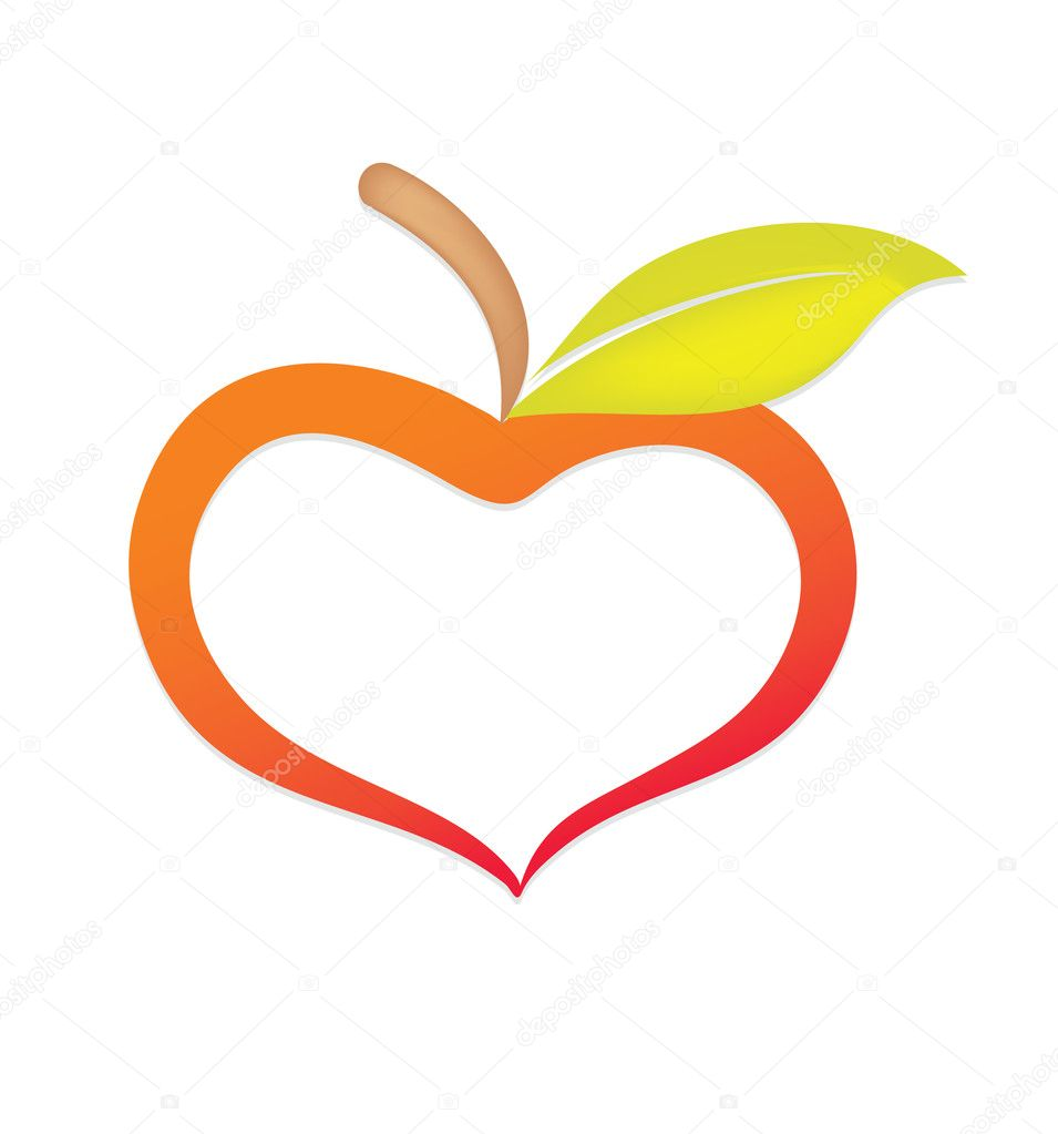 Apple similar to heart