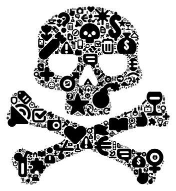Concept of human skull