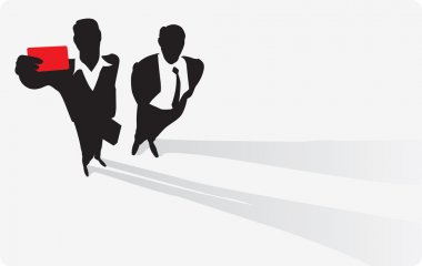 Businessman with pass