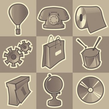 Monochrome miscellaneous icons
