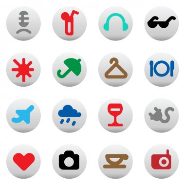 Buttons for leisure and hotel services