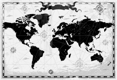 Black ancient World map