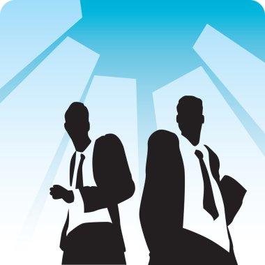 Businessmen on avenue