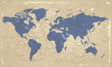 Retro-styled World map