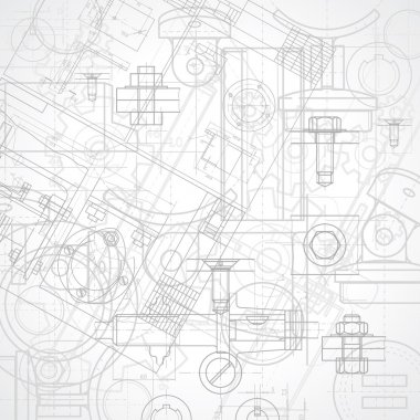 Abstract industrial background, vector illustration. stock vector