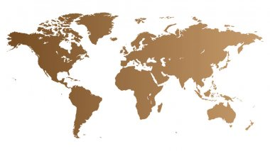 Brown high quality vector map of the World. clip art vector