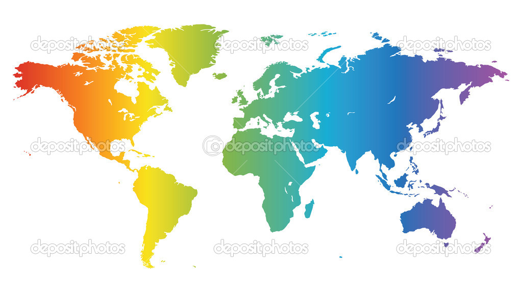 Spectral world map stock vector ildogesto 3193585 multicolored high quality vector map of the world vector by ildogesto gumiabroncs Images