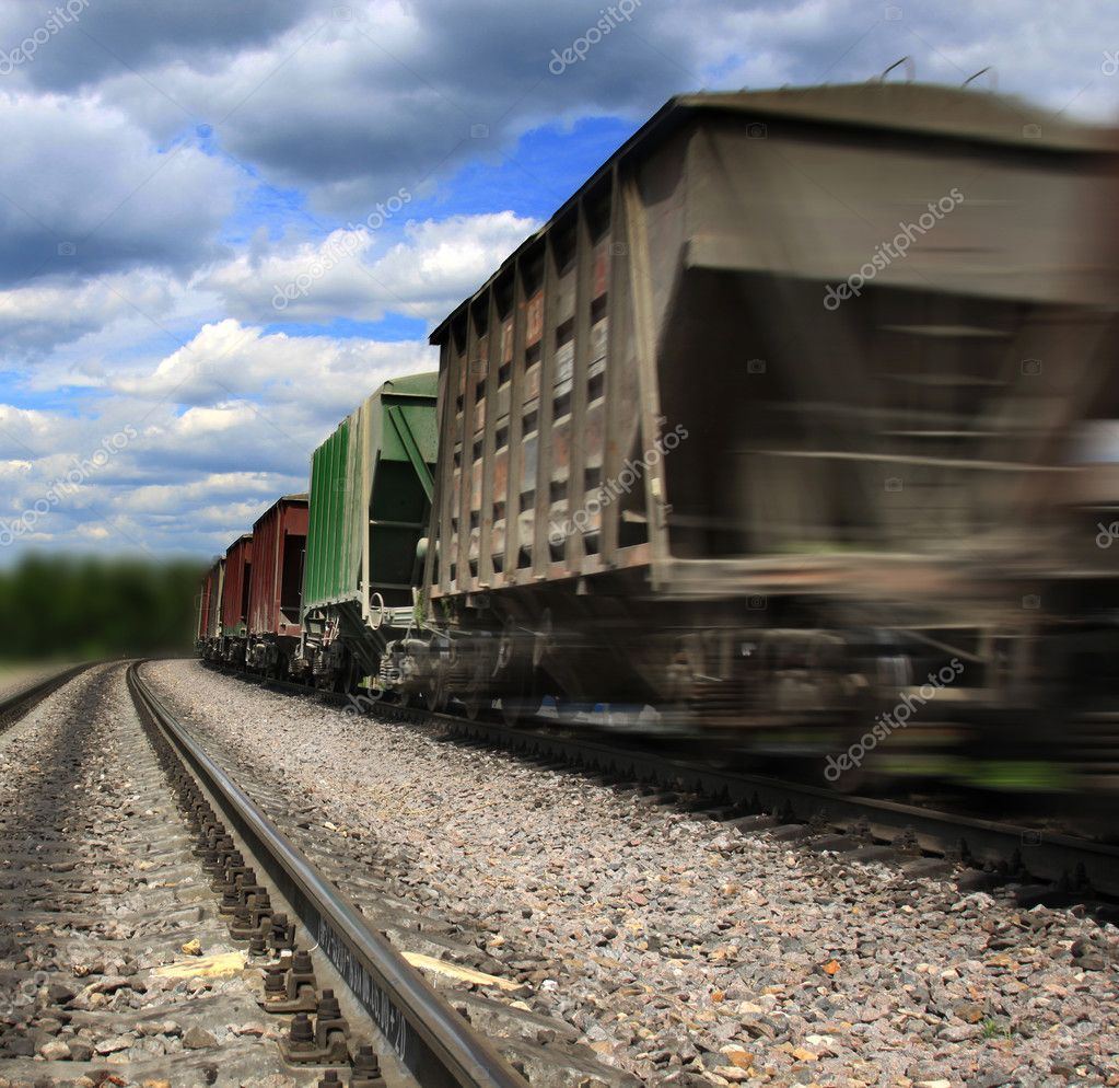 Cargo train speeding