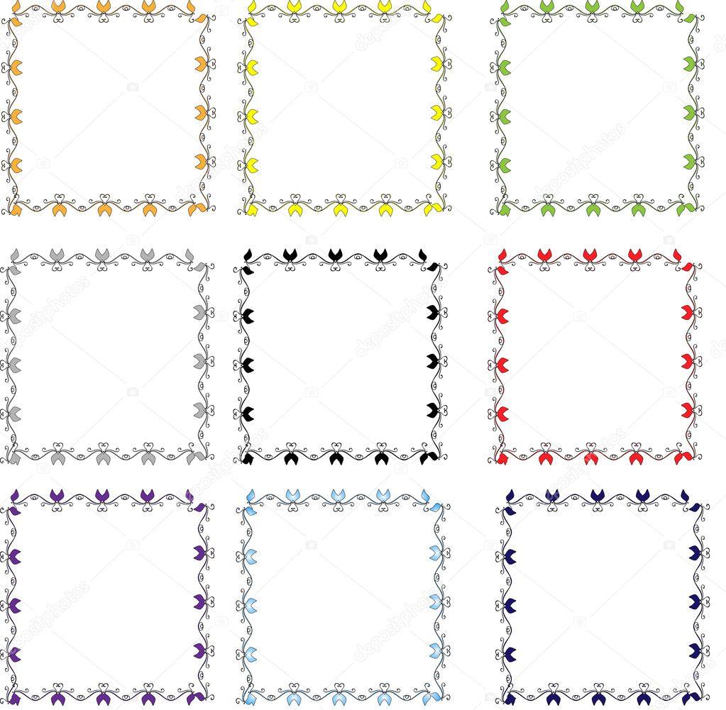 conjunto de vectores Marcos — Archivo Imágenes Vectoriales © helea ...