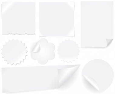 White paper labels