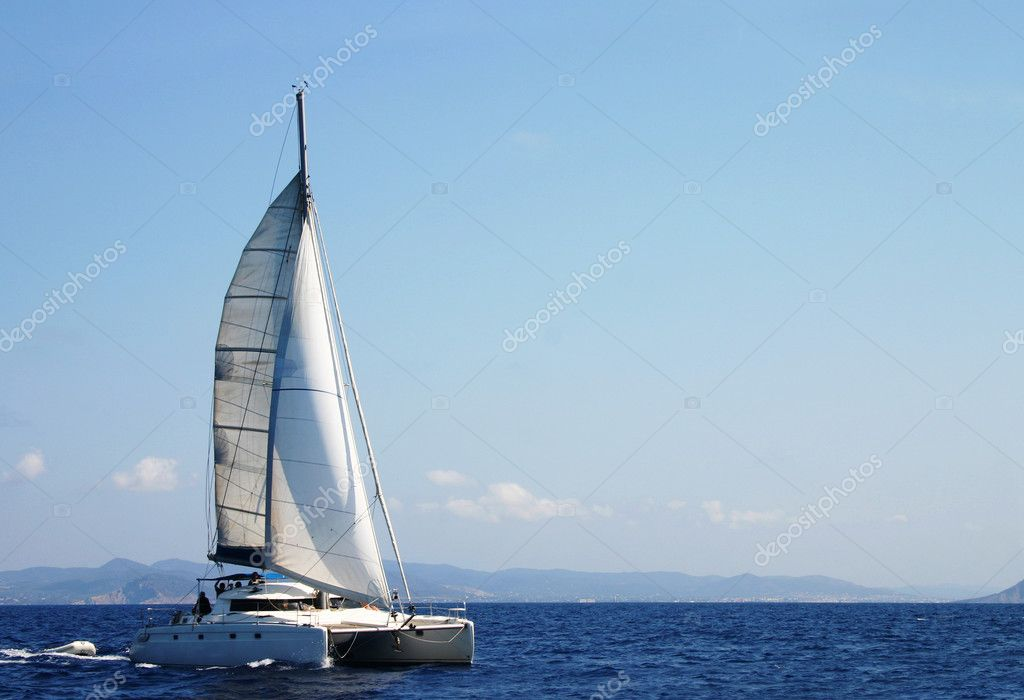 Catamaran in regatta