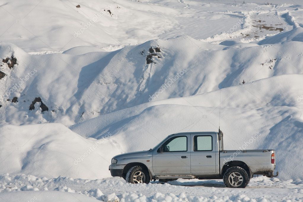 Car In Winter Scenario