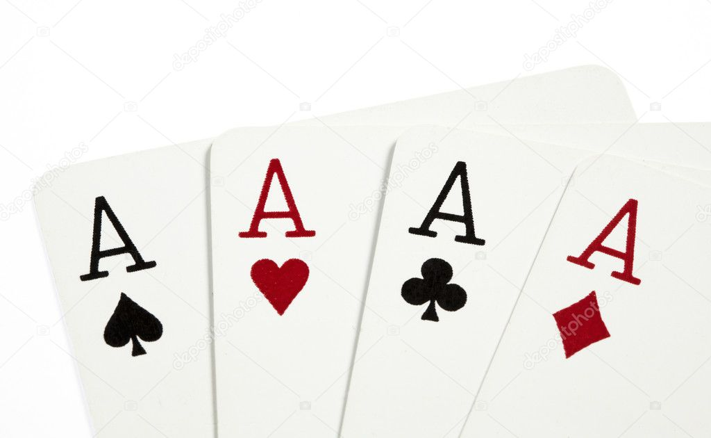 four aces of playing cards stock photo homiel 2749961. Black Bedroom Furniture Sets. Home Design Ideas