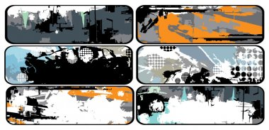 Collection of grunge banners, vector illustration clip art vector