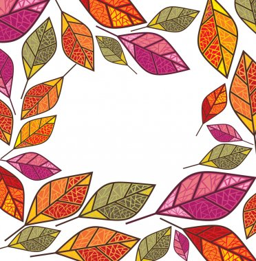 Autumn frame with place for your text clip art vector
