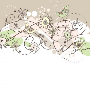 Cute vector background