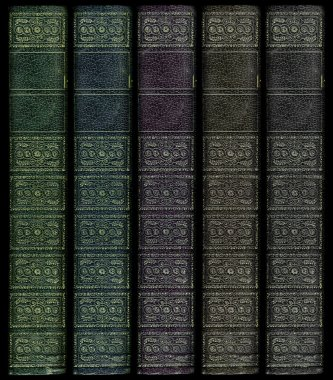 Multi Colored Vintage book spines