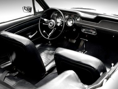 Interior of the classic sports car