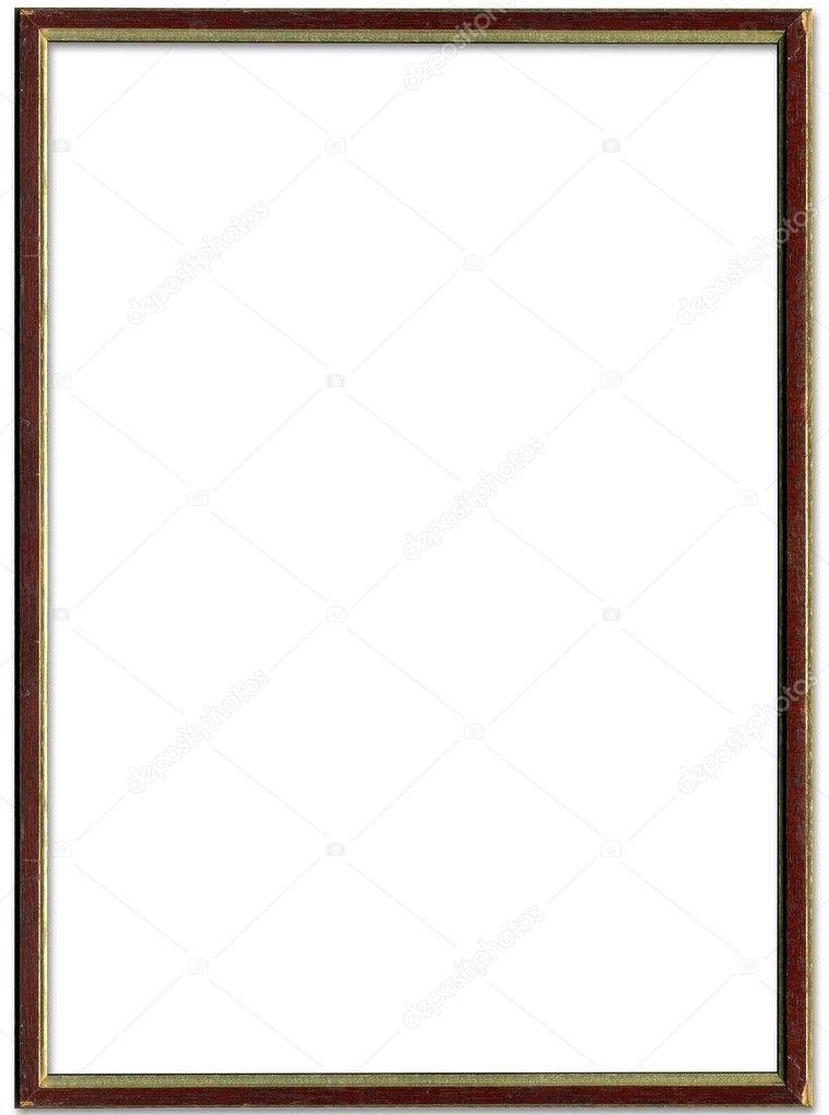 cuadro vacío marrón y oro marco borde — Fotos de Stock ...