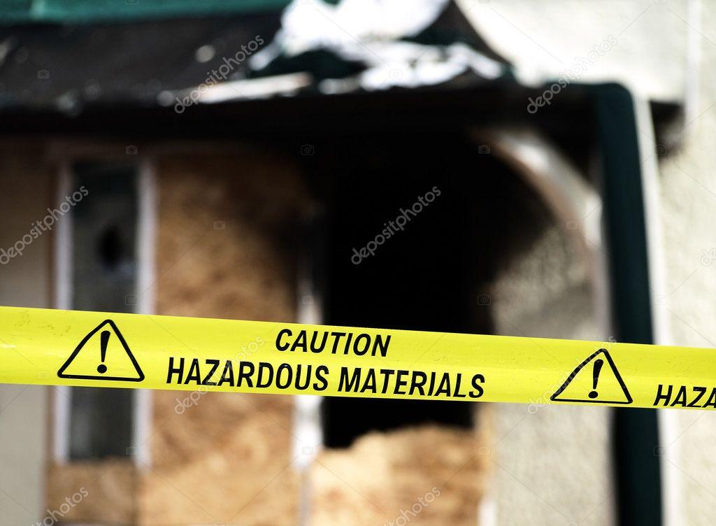 Caution Hazardous Materials Yellow Polic
