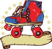 Disco rollerboot nápisu ilustrace