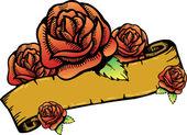 růže nápisu vektorové ilustrace.
